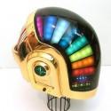 thumbs motorcycle helmet painting 37
