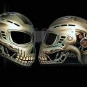 thumbs motorcycle helmet painting 39