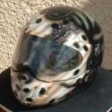 thumbs motorcycle helmet painting 40