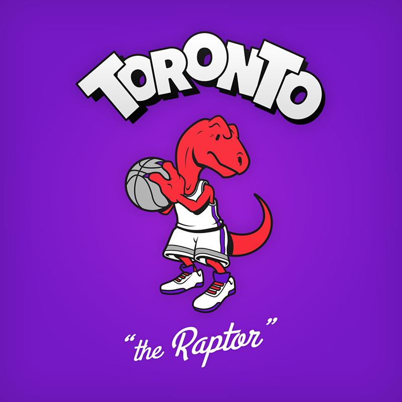Cartoon NBA Logos