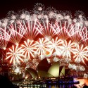 DECEMBER 31: Fireworks explode over the Sydney Harbour Bridge and Opera House during a pyrotechnic show to celebrate the New Year January 1, 2012.     REUTERS/Daniel Munoz     (AUSTRALIA - Tags: ANNIVERSARY SOCIETY TPX IMAGES OF THE DAY)