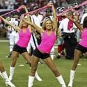 thumbs nfl cheerleaders pink cancer 50