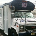 thumbs new york giants party bus helmet bar