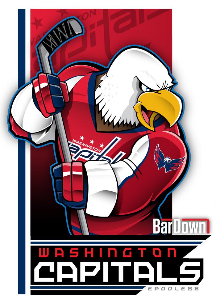 nhl playoffs mascot art by eric poole