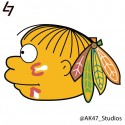 thumbs nhl blackhawks simpsons