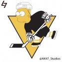 thumbs nhl penguins simpsons