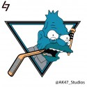 thumbs nhl sharks simpsons