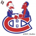 thumbs simpsons nhl canadians