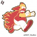 thumbs simpsons nhl flames