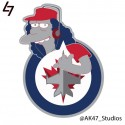 thumbs simpsons nhl jets