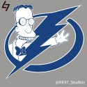 thumbs simpsons nhl lightning