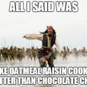 thumbs oatmeal cookie meme 12