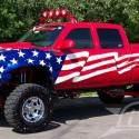 thumbs chevrolet silverado   american flag custom paint