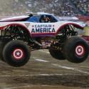 thumbs hot wheels monster truck captain america