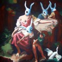 thumbs rabbit scene by wytrab8