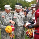 thumbs redskins military training camp 25