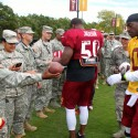 thumbs redskins military training camp 33