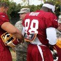thumbs redskins military training camp 35