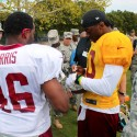 thumbs redskins military training camp 50