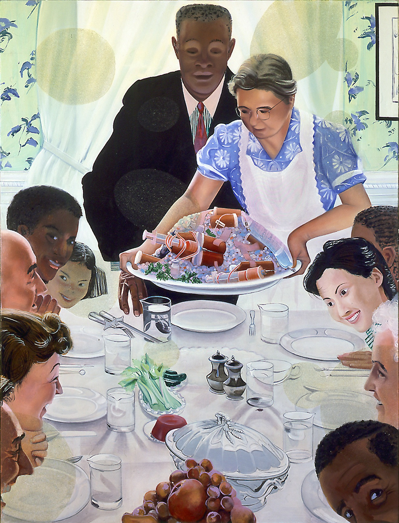 Rockwell's Thanksgiving Parodies Freedom From Want Parody
