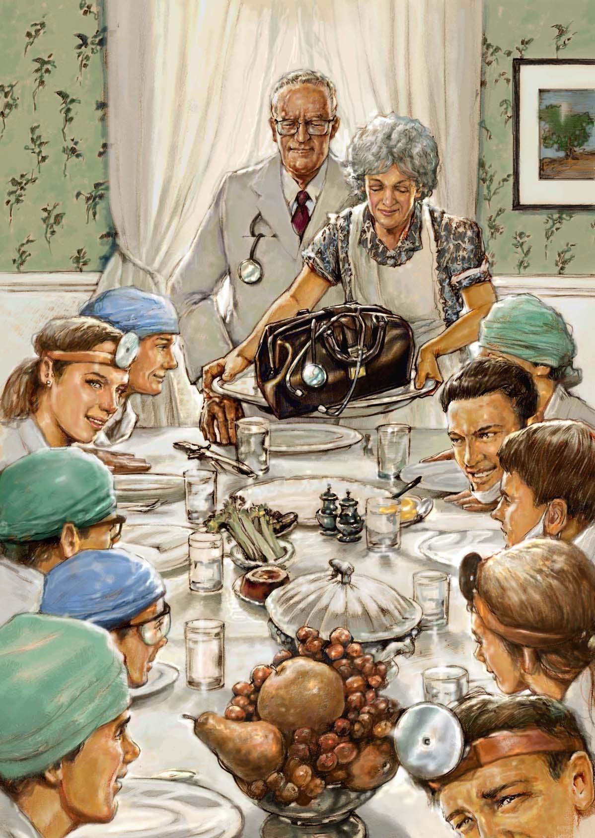 Family dinner norman rockwell
