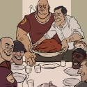 thumbs rockwell thanksgiving parody 21