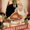 thumbs rockwell thanksgiving parody 28