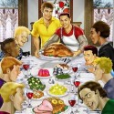 thumbs rockwell thanksgiving parody 32