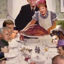 thumbs rockwell thanksgiving parody 33