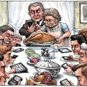 thumbs rockwell thanksgiving parody 38