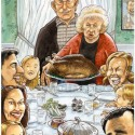 thumbs rockwell thanksgiving parody 42