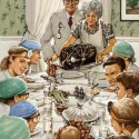 thumbs rockwell thanksgiving parody 43
