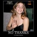 thumbs no thanks emma watson drunk alchohol harry potter roofies demotivational poster 1250982110