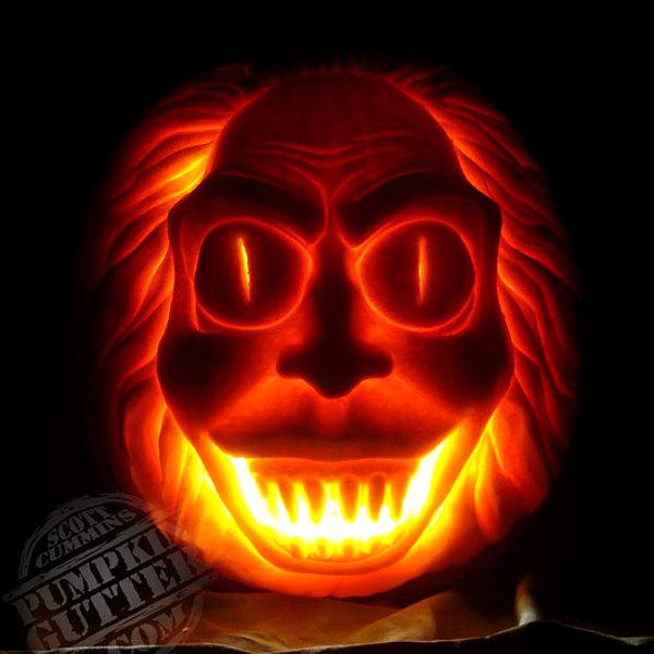 terrifyingly scary halloween pumpkins rh gunaxin com scary traditional pumpkin really scary pumpkin designs