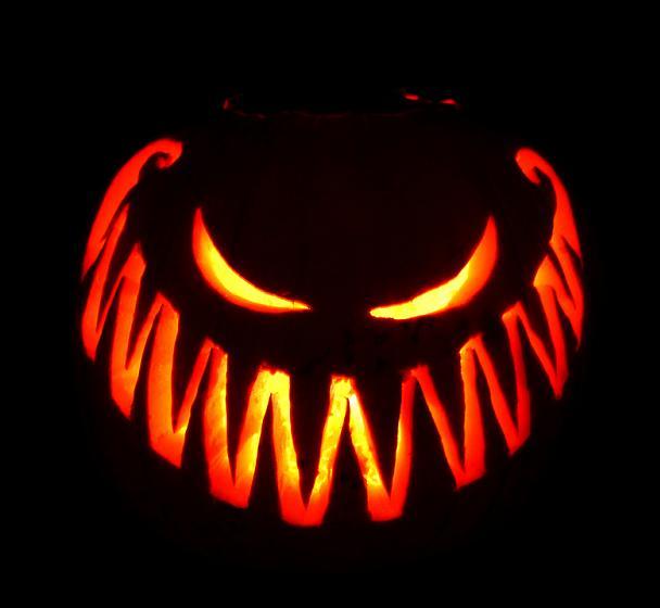 terrifyingly scary halloween pumpkins