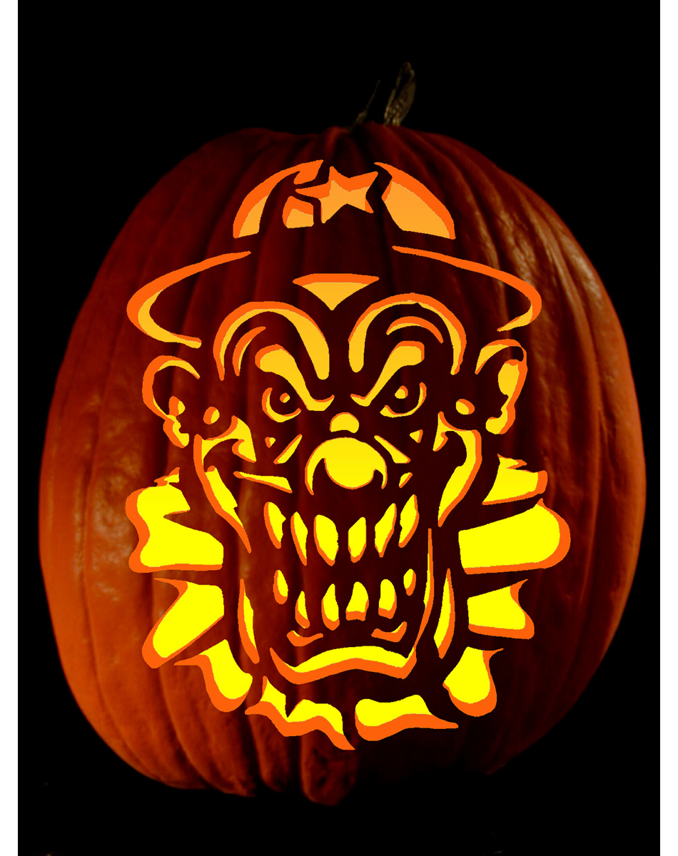 extreme pumpkin carving templates - terrifyingly scary halloween pumpkins