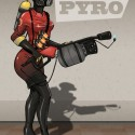 thumbs female pyro red team by shelldragon