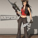 thumbs female sniper red team by shelldragon