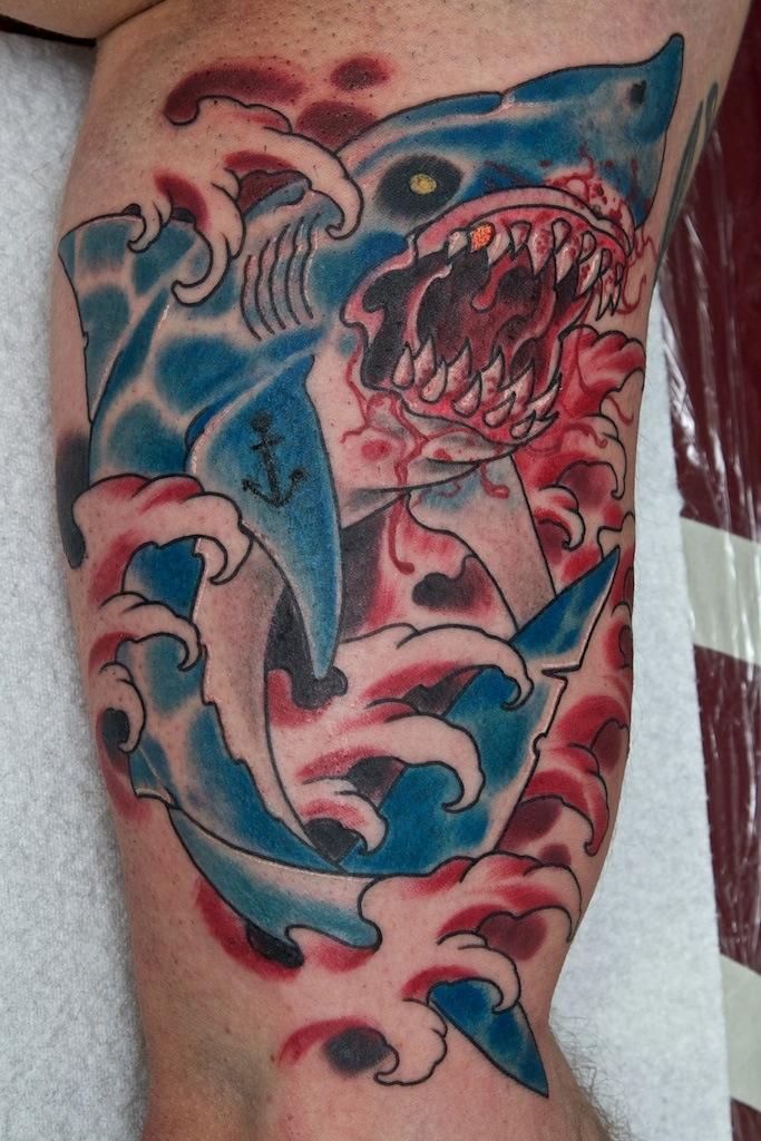 100 Awesome Shark Tattoos Zombie Shark Tattoo
