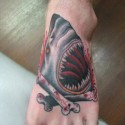 thumbs shark tattoo 007
