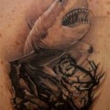 thumbs shark tattoo 091