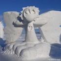thumbs snow sculpture 1
