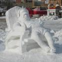 thumbs snow sculpture 12
