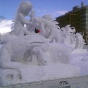 thumbs snow sculpture 74