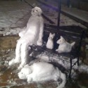 thumbs snow sculpture 81