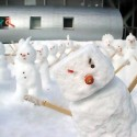 thumbs funny snowman 07
