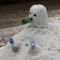 thumbs snowman bottles