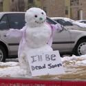 thumbs snowman dead