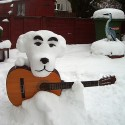 thumbs snowman guitar
