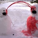 thumbs snowmen bloody